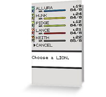 Summon Your Lion! Greeting Card