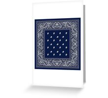 Bandana Blue  Greeting Card