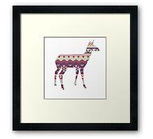 Tribal Deer  Framed Print