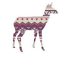 Tribal Deer  Photographic Print