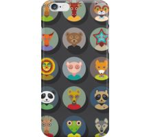 Set of animal faces iPhone Case/Skin