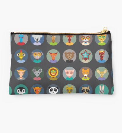 Set of animal faces Studio Pouch