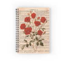 Red Roses on Corinthians Spiral Notebook