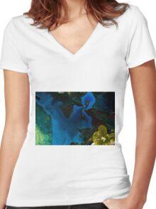 2016_GITCHADK_MALERI_PRINT_1_ Women's Fitted V-Neck T-Shirt
