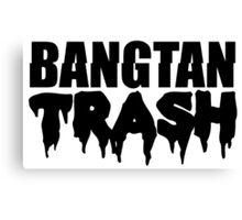 BTS/Bangtan Boys Trash Text Canvas Print