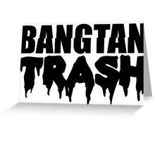 BTS/Bangtan Boys Trash Text Greeting Card