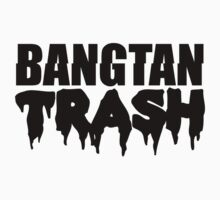 BTS/Bangtan Boys Trash Text One Piece - Short Sleeve