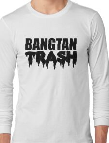 BTS/Bangtan Boys Trash Text Long Sleeve T-Shirt