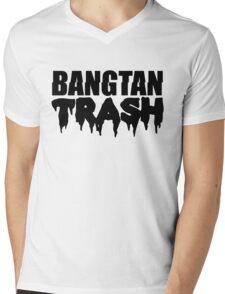 BTS/Bangtan Boys Trash Text Mens V-Neck T-Shirt