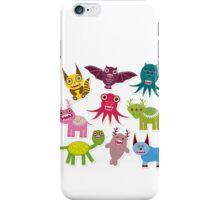 Funny monsters iPhone Case/Skin