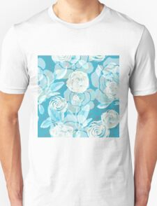 Watercolor seamless floral pattern. Roses. Unisex T-Shirt