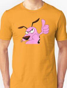 good thumb Courage dog T-Shirt