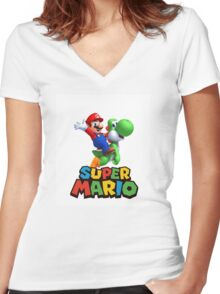 MARIO 11 Women's Fitted V-Neck T-Shirt