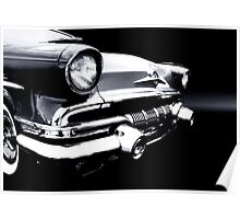 1957 Pontiac Star Chief B/W Poster
