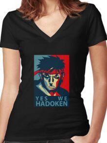 Street Fighter Women's Fitted V-Neck T-Shirt