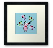 alien Courage the Cowardly Framed Print