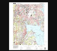 USGS TOPO Map Rhode Island RI East Greenwich 353285 1996 24000 T-Shirt
