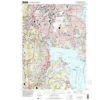 USGS TOPO Map Rhode Island RI East Greenwich 353285 1996 24000 Photographic Print