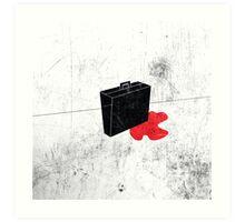 Blood Briefcase Art Print