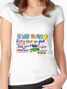 Be Who You are Women's Fitted Scoop T-Shirt
