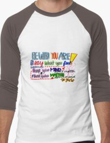 Be Who You are Men's Baseball ¾ T-Shirt
