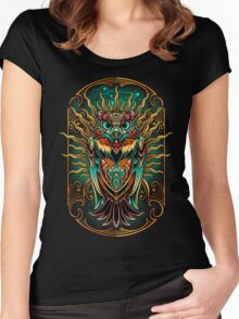 Owl - The Watcher Women's Fitted Scoop T-Shirt