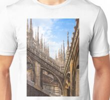 a forest of sculptures. Duomo. Milano. Unisex T-Shirt