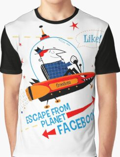 Escape From Planet Facebook Graphic T-Shirt