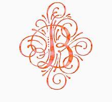 Watercolor Monogram Calligraphy B Unisex T-Shirt