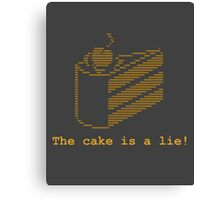 The cake is a lie! (fanart) Canvas Print