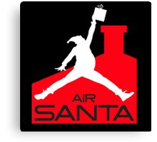 Air jordans parody santa Canvas Print