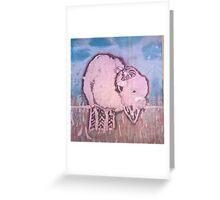 Pink Buffalo Greeting Card