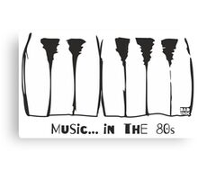 Music in the 80s Canvas Print
