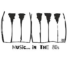 Music in the 80s Photographic Print