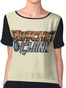 ratchet and clank logo Chiffon Top
