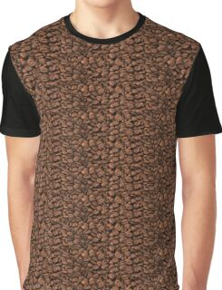 Roasted Arabica Coffee Beans - Brown  Graphic T-Shirt