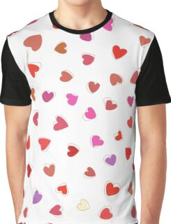 Love, Romance, Hearts - Red White Purple Pink Graphic T-Shirt