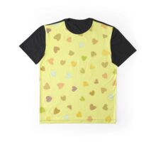 Love, Romance, Hearts - Yellow Green Brown Blue  Graphic T-Shirt