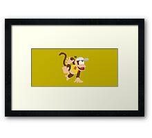 Diddy (Yellow) - Super Smash Bros. Framed Print