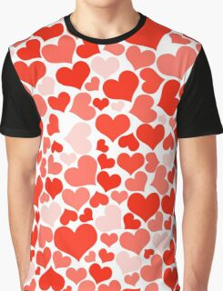 Love, Romance, Hearts - Red Graphic T-Shirt