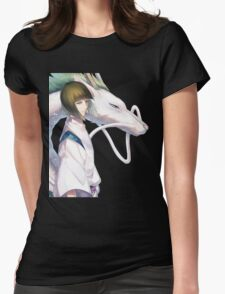 Haku the Dragon  Womens Fitted T-Shirt