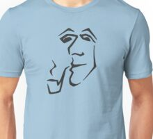Man With Pipe (black) Unisex T-Shirt
