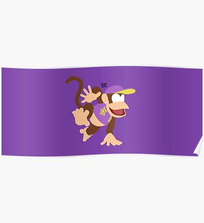 Diddy Kong (Purple) - Super Smash Bros. Poster
