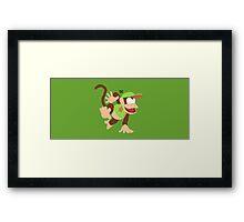 Diddy Kong (Green) - Super Smash Bros. Framed Print