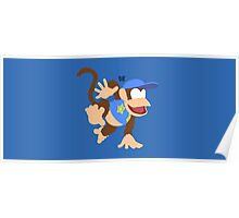 Diddy Kong (Blue) - Super Smash Bros. Poster