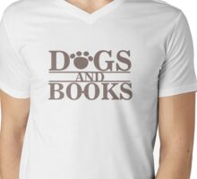 Dogs and Books Mens V-Neck T-Shirt