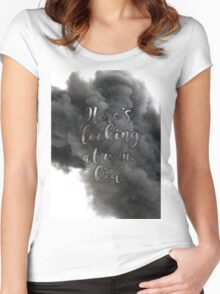 """Here's looking at you, kid"" Women's Fitted Scoop T-Shirt"
