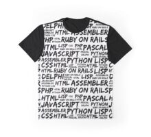 Programming Languages (Java, Pascal) - Black Graphic T-Shirt
