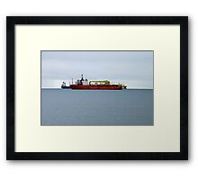 Ships at Weymouth, SW England Framed Print