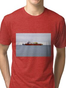 Ships at Weymouth, SW England Tri-blend T-Shirt